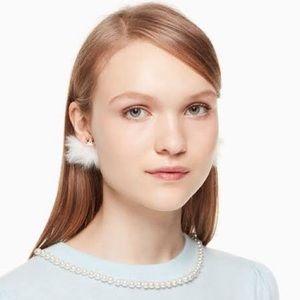 Kate Spade Star Bright Owl Reversible Earrings NWT
